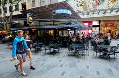Centro commerciale della via della regina - Brisbane Queensland Australia Fotografia Stock Libera da Diritti
