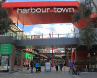 Centro commerciale di Melbourne dei Docklands Fotografia Stock Libera da Diritti