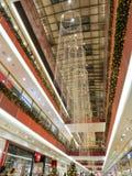 Centro commerciale di Natale Immagine Stock Libera da Diritti