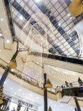 Centro commerciale di Natale Fotografia Stock