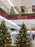 Centro commerciale di Natale Fotografia Stock Libera da Diritti
