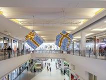 Centro commerciale di Natale Fotografie Stock Libere da Diritti