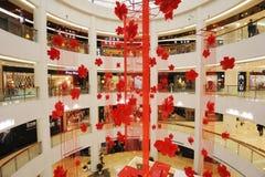 centro commerciale di nuovo anno 2012 Fotografia Stock Libera da Diritti