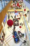 Centro commerciale di shopping di festa Fotografie Stock