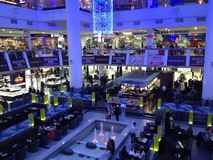 Centro commerciale di vista dentro Fotografia Stock Libera da Diritti