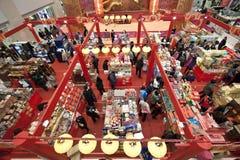 Centro commerciale durante il nuovo anno cinese a Hong Kong Fotografia Stock