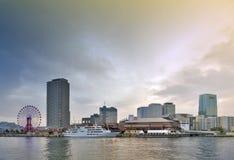 Centro commerciale e parco a tema di Kobe Harborland del mosaico di Umie su lungomare a porto di Kobe, prefettura di Hyogo, Giapp Immagini Stock