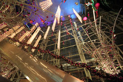 Centro commerciale festivo Immagini Stock Libere da Diritti