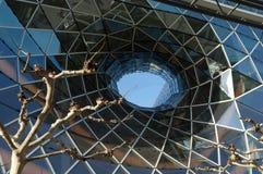 Centro commerciale futuristico a Francoforte Immagini Stock Libere da Diritti