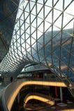 Centro commerciale futuristico a Francoforte Immagini Stock