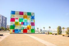Centro contemporáneo de Pompidou del museo en Málaga, Andalucía, España fotografía de archivo libre de regalías