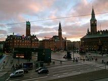 Centro, Copenhaghen Fotografia Stock