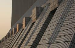 Centro cultural en la puesta del sol Imagen de archivo