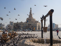 Centro cultural islámico Fanar en Doha, Qatar, Oriente Medio Imagen de archivo