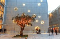 Centro culturale del fondamento di niarchos di Stavros fotografie stock libere da diritti