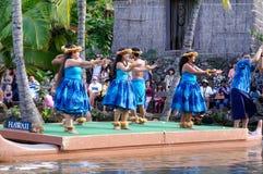 Centro culturale polinesiano fotografia stock