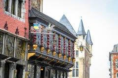 Centro da cidade de Aix-la-Chapelle, Alemanha Imagem de Stock