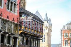 Centro da cidade de Aix-la-Chapelle, Alemanha Fotos de Stock