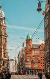 Centro da cidade de Amsterdão fotos de stock royalty free