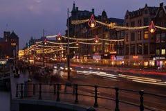 Centro da cidade de Amsterdão, Países Baixos Foto de Stock