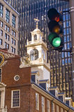 Centro da cidade de Boston, velho e novo Fotos de Stock