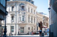 Centro da cidade de Bucareste no meio-dia Imagem de Stock Royalty Free