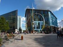 Centro da cidade de Cardiff imagens de stock