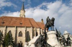 Centro da cidade de Cluj-Napoca Fotografia de Stock