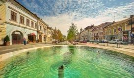 Centro da cidade de Cluj-Napoca Fotos de Stock