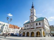 Centro da cidade de Gliwice, Polônia Foto de Stock Royalty Free