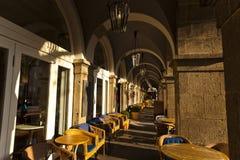 Centro da cidade de Koblenz Tabelas de Cafee Imagens de Stock