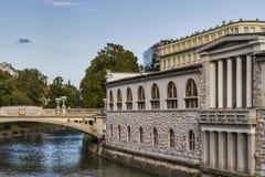 Centro da cidade de Ljubljana Fotografia de Stock