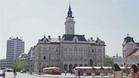 Centro da cidade de Novi Sad, verão video estoque