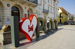Centro da cidade de Plock, Polônia imagens de stock
