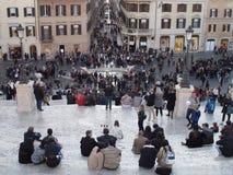 Centro da cidade de Roma foto de stock