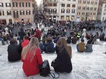 Centro da cidade de Roma imagens de stock