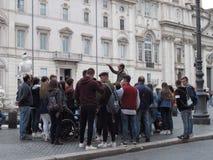 Centro da cidade de Roma fotos de stock royalty free