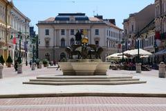 Centro da cidade de Szeged Hungria Fotos de Stock Royalty Free