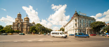 Centro da cidade de Varna Foto de Stock Royalty Free