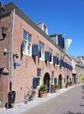 Centro da cidade de Woerden, província de Utrecht, os Países Baixos imagem de stock