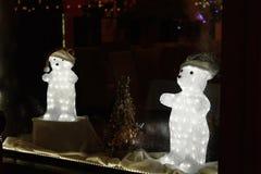 Centro da cidade decorado de surpresa bonito por feriados do Natal mim Imagens de Stock