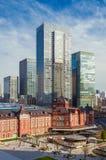 Centro da cidade do Tóquio entre a tradição e a modernidade foto de stock royalty free