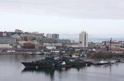 Centro da cidade em Vladivostok, Rússia Foto de Stock