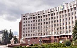 Centro da cidade na cidade ucraniana ocidental Ivano-Frankivsk Imagens de Stock Royalty Free