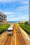 Centro da cidade próximo V da estação de Takayama do trem Foto de Stock Royalty Free