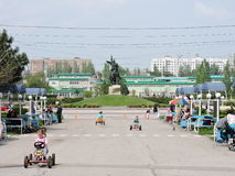 Centro da cidade Tiraspol Fotografia de Stock Royalty Free