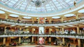 Centro da compra e de entretenimento na cidade mall video estoque