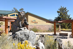 Centro da descoberta de Big Bear foto de stock royalty free