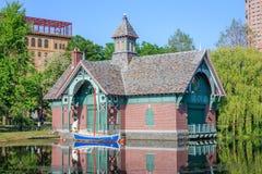 Centro da descoberta de Charles A Dana Discovery Center - Central Park, New York City foto de stock
