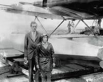 Centro da descoberta de Charles A Lindbergh, aviador americano Fotos de Stock